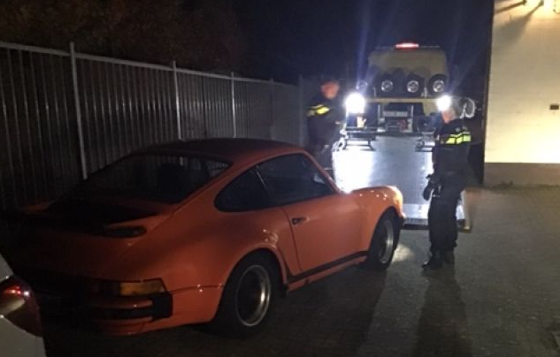 2020 in den Niederlanden sichergestellter Porsche 911 turbo